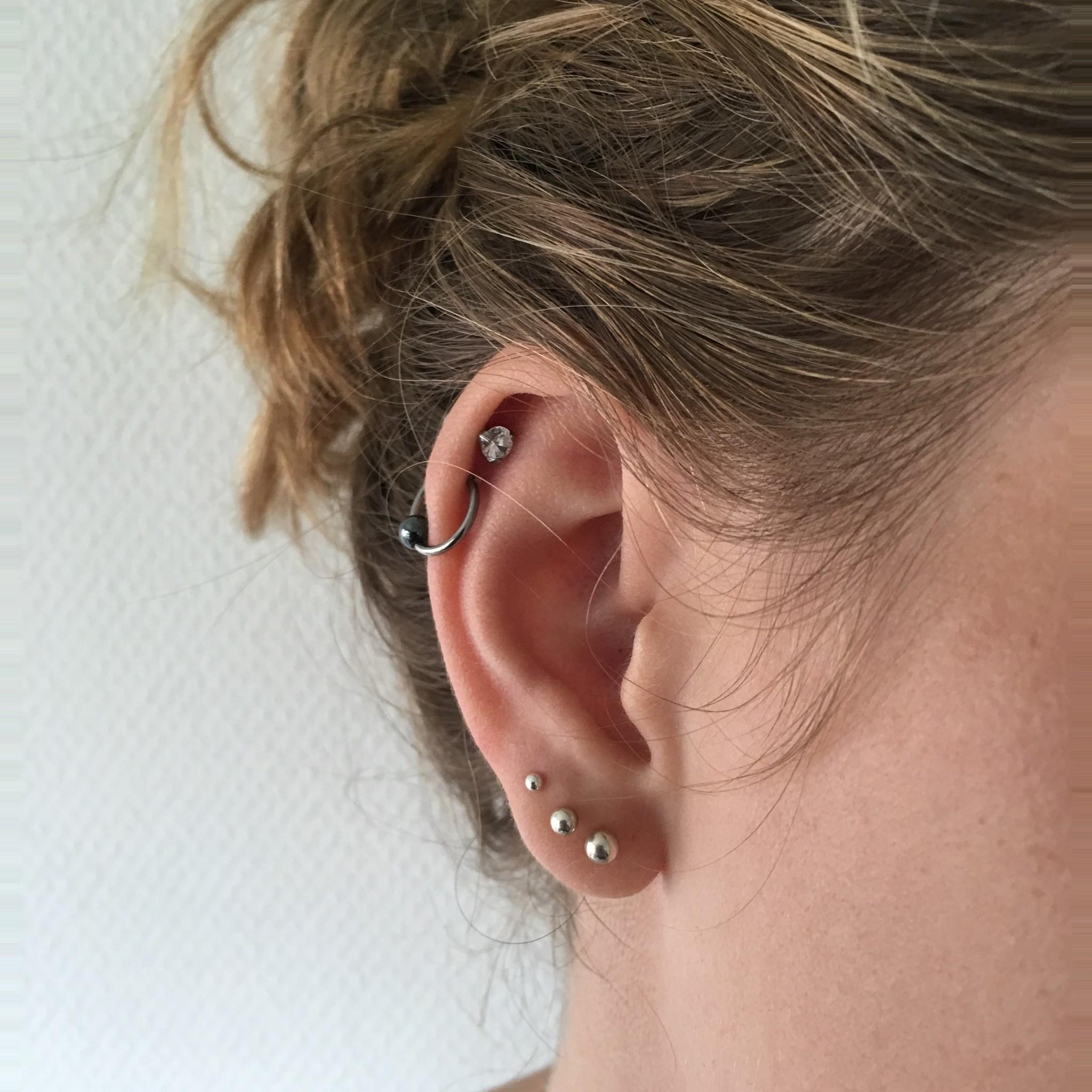 Zilveren set oorknopjes, 2 3 en 4 mm-2