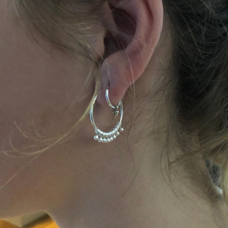 Zilveren bohemian oorringen-2