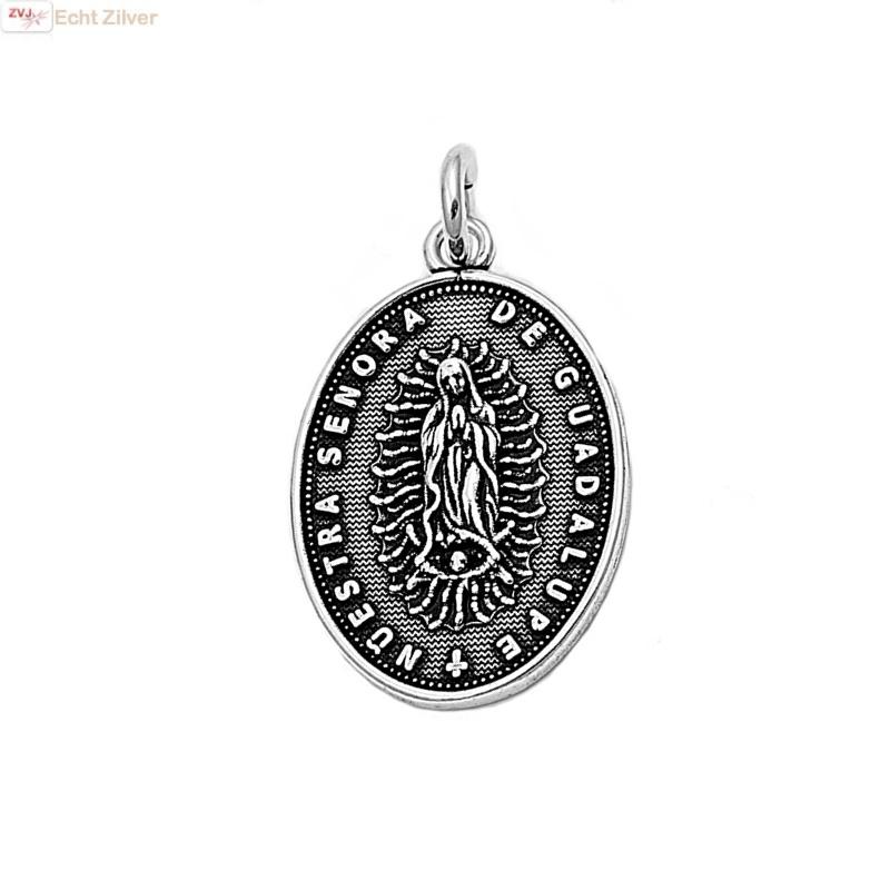 925 sterling zilveren ovale scapulier kettinghanger-1