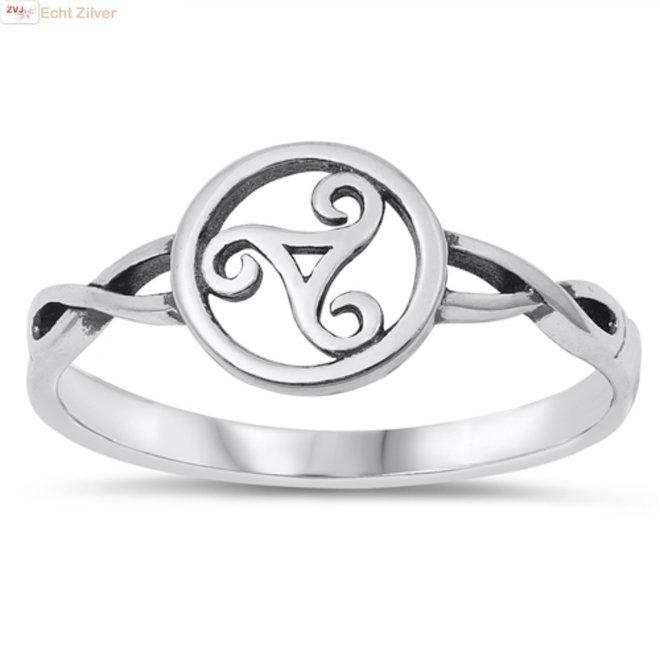 Zilveren keltische tribal ring