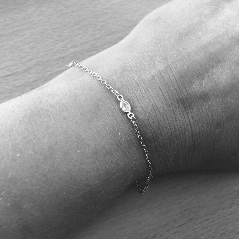 925 Zilveren diamond by the yard armbandje-2