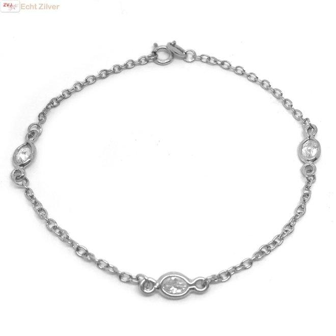 925 Zilveren diamond by the yard armbandje