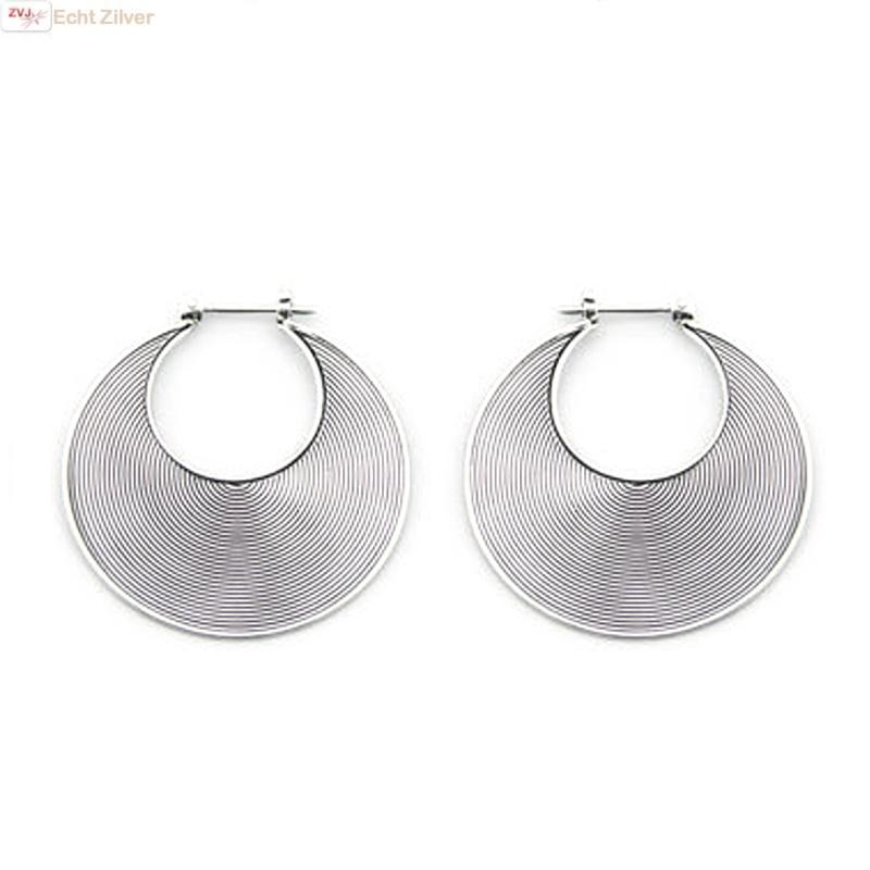 Zilveren Balinese oorringen 30 mm-1