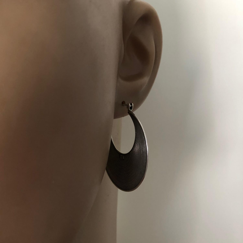 Zilveren Balinese oorringen 34 mm-3