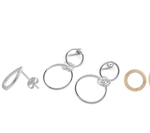 Zilveren oorstekers