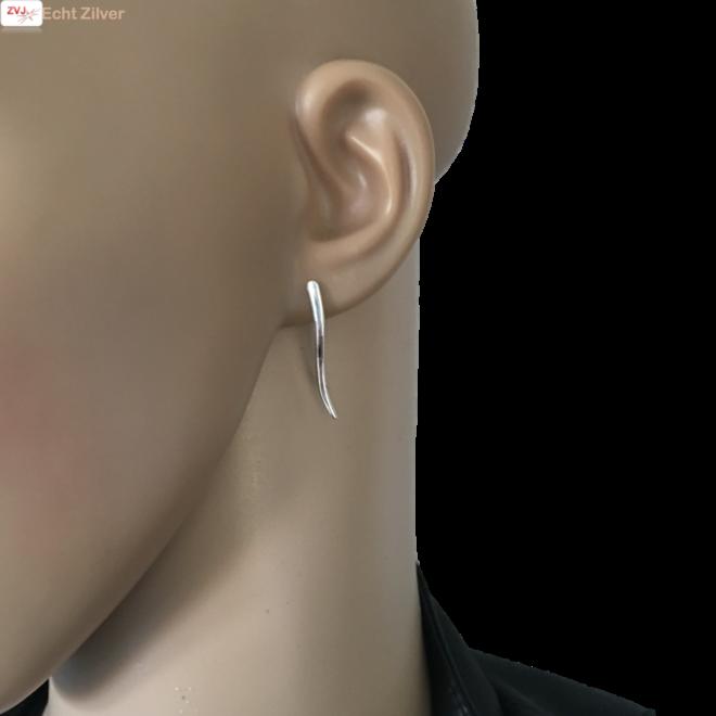 Zilveren wave cuff ear line
