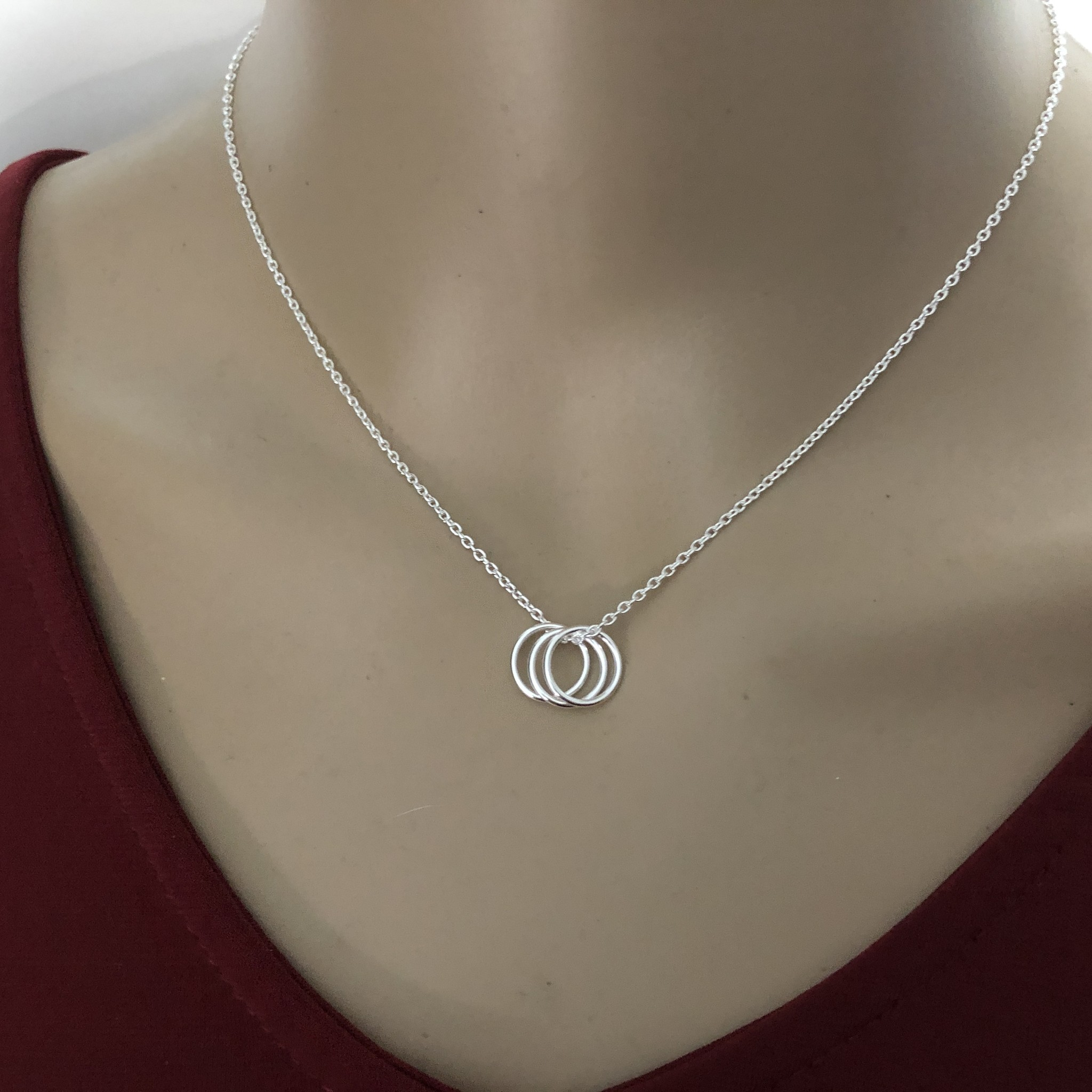 Zilveren trinity ketting-2