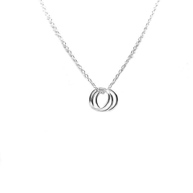 Zilveren trinity ketting