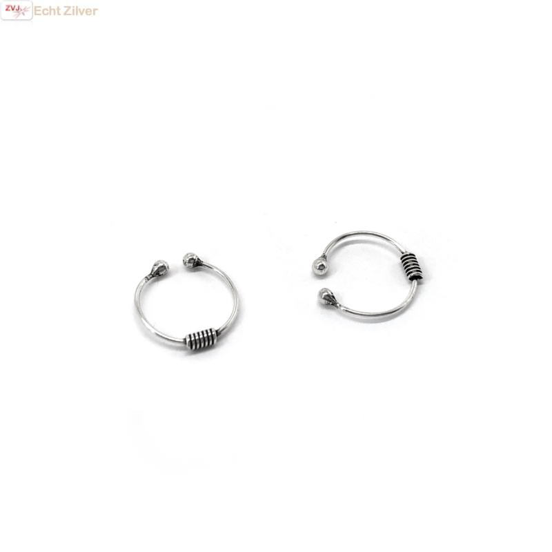 Zilveren kleine keltische oorklemmetjes-2