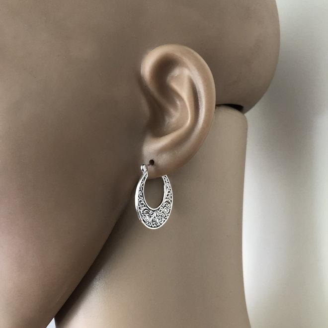 Zilveren vintage style oorringen