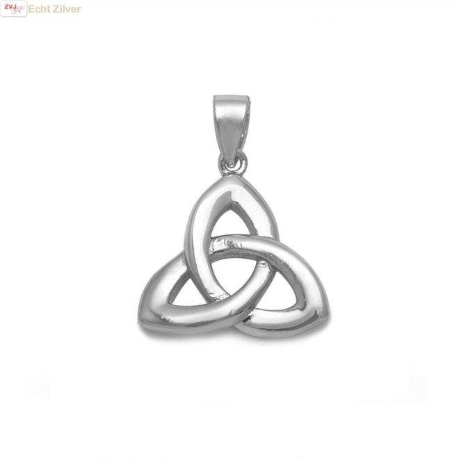 Zilveren Keltische trinity knoop kettinghanger