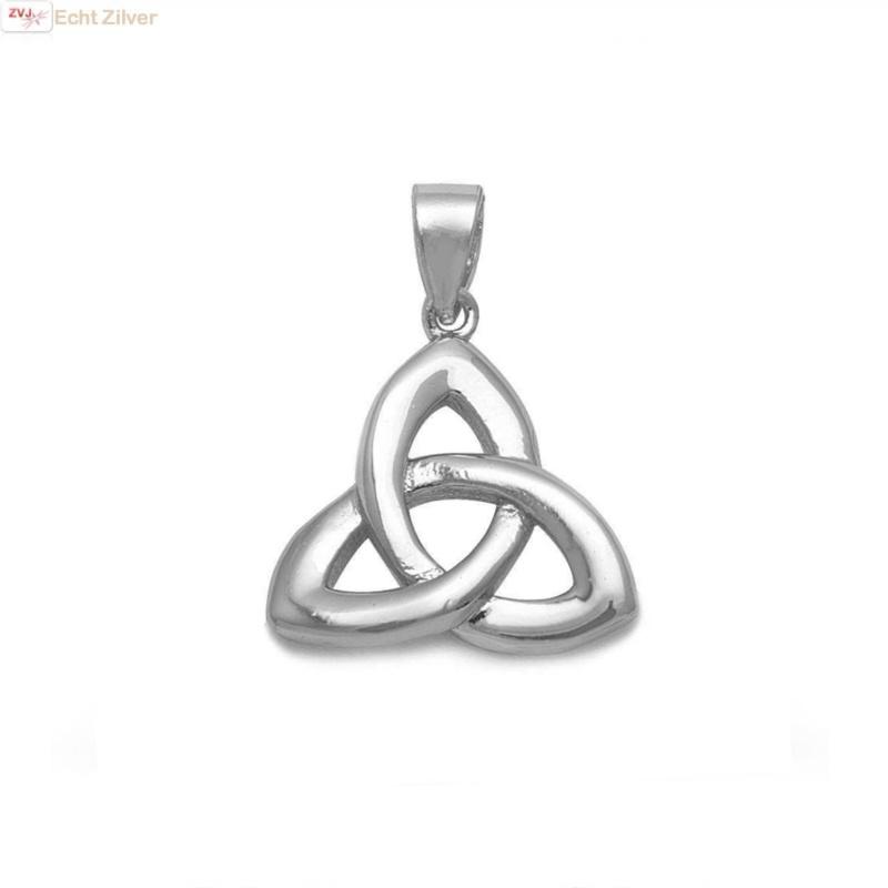Zilveren Keltische trinity knoop kettinghanger-1