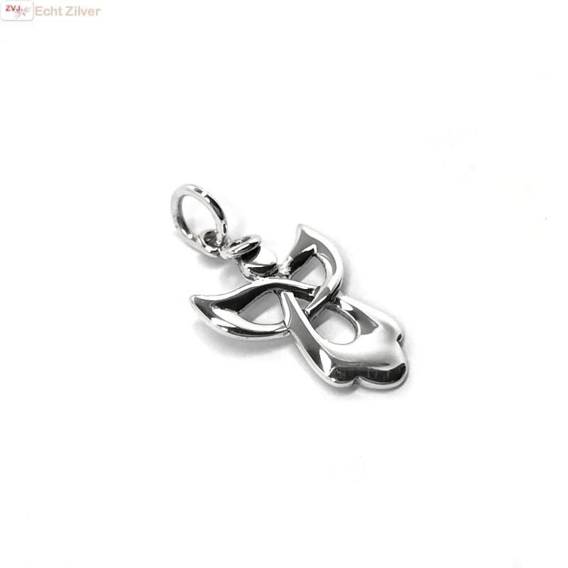Zilveren engel kettinghanger-3