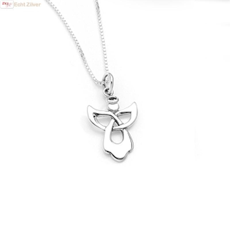 Zilveren engel kettinghanger-4