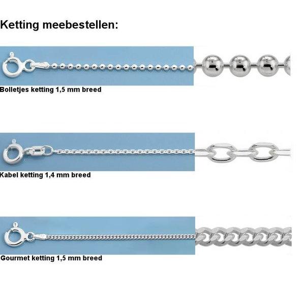 Zilveren hoornschelp kettinghanger-5