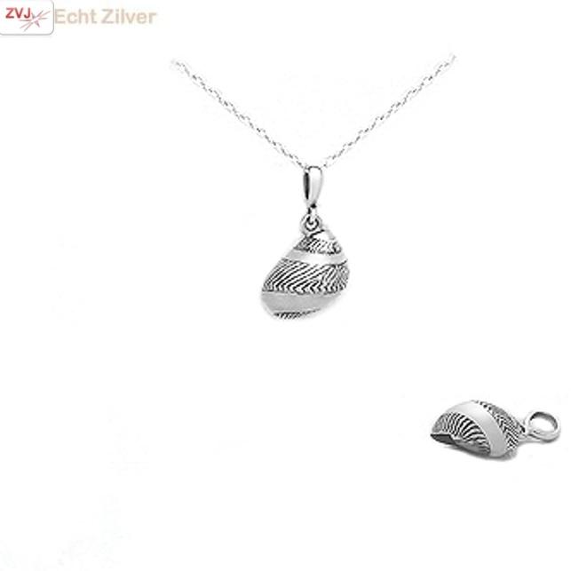 Zilveren hoornschelp kettinghanger-6