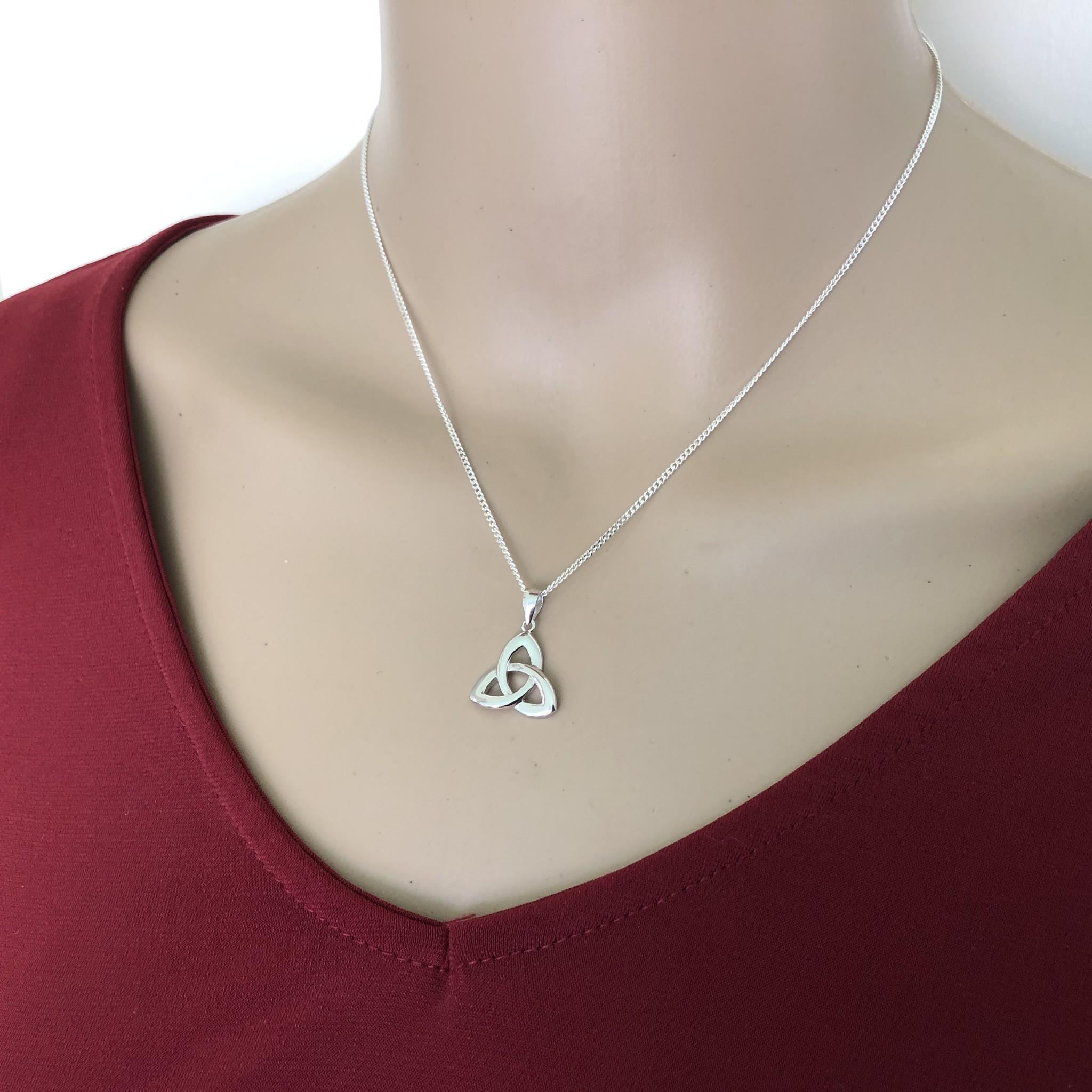 Zilveren Keltische trinity knoop kettinghanger-2