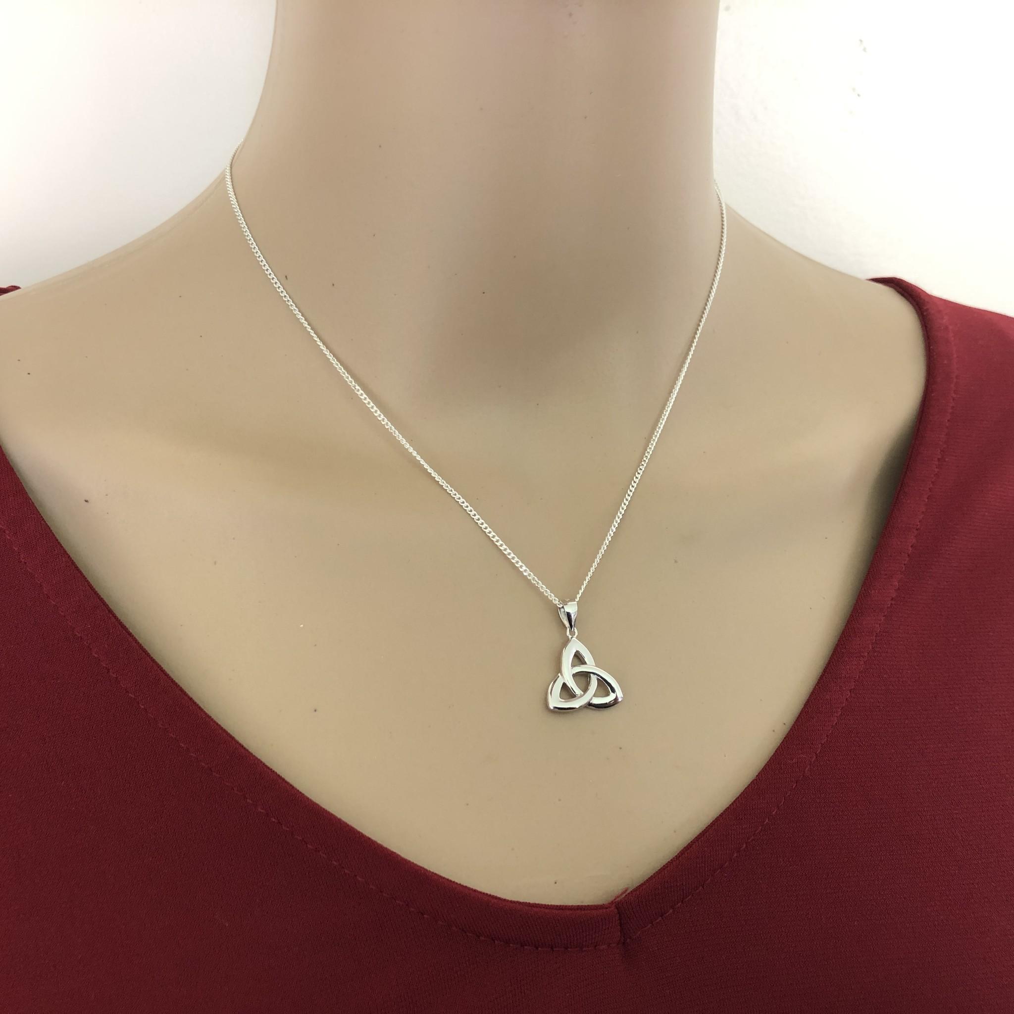 Zilveren Keltische trinity knoop kettinghanger-3