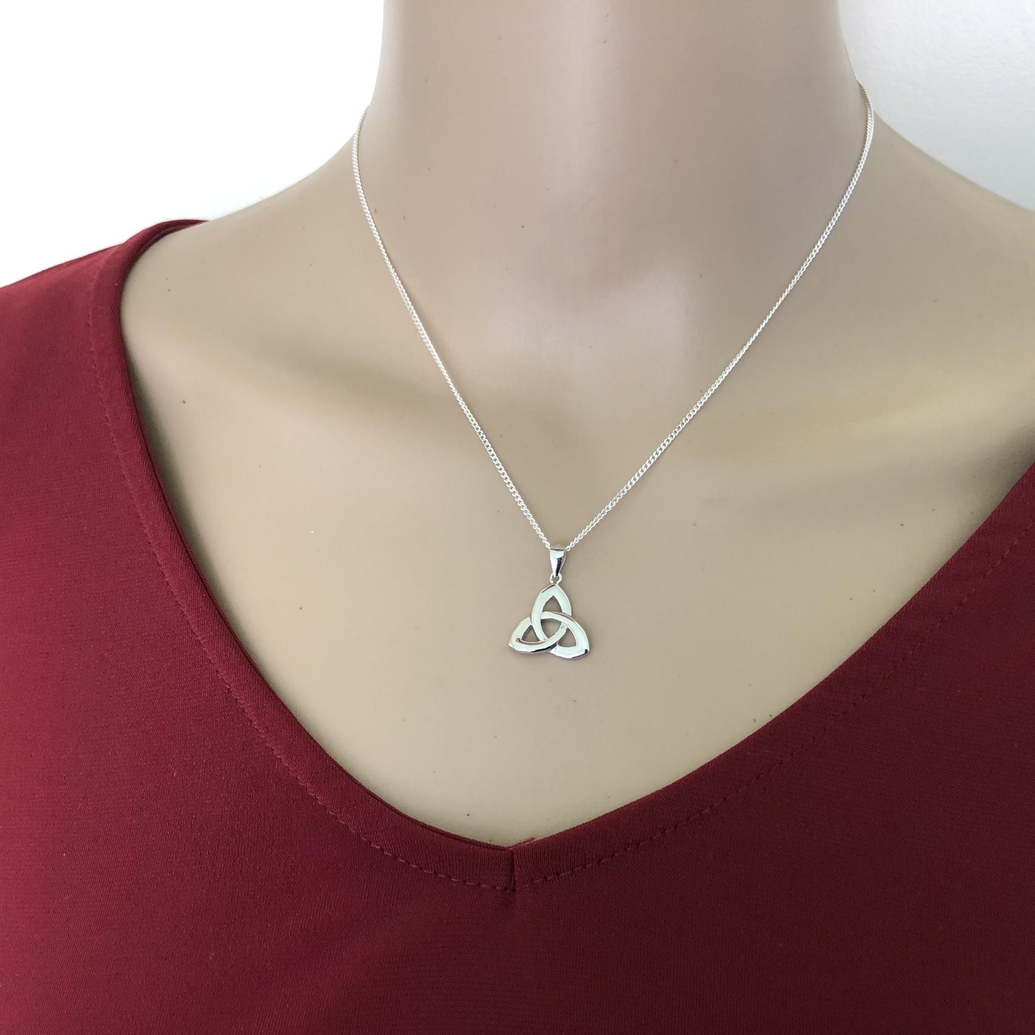 Zilveren Keltische trinity knoop kettinghanger-4