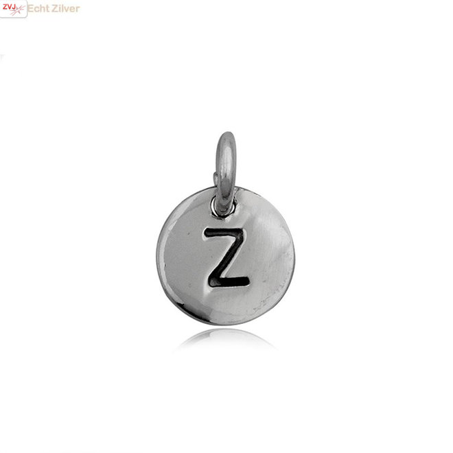 Zilveren initiaal Z kettinghanger
