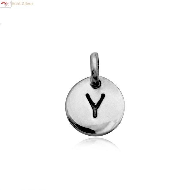 Zilveren initiaal Y kettinghanger