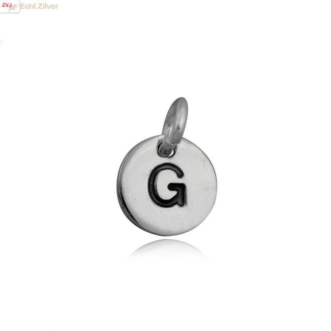 Zilveren initiaal G kettinghanger