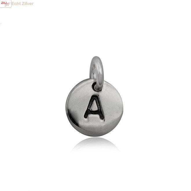 Zilveren initiaal A kettinghanger
