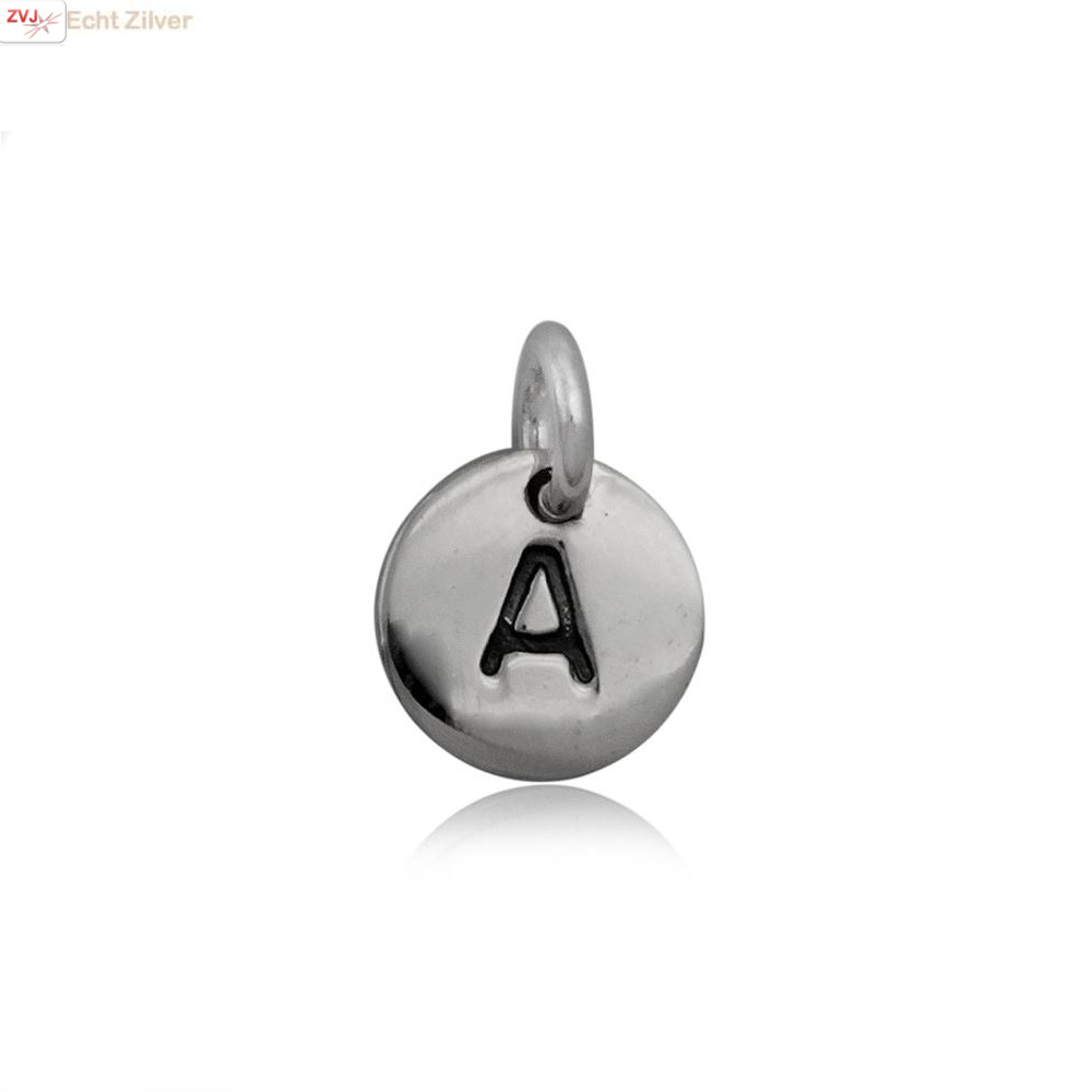 Zilveren initiaal A kettinghanger-1