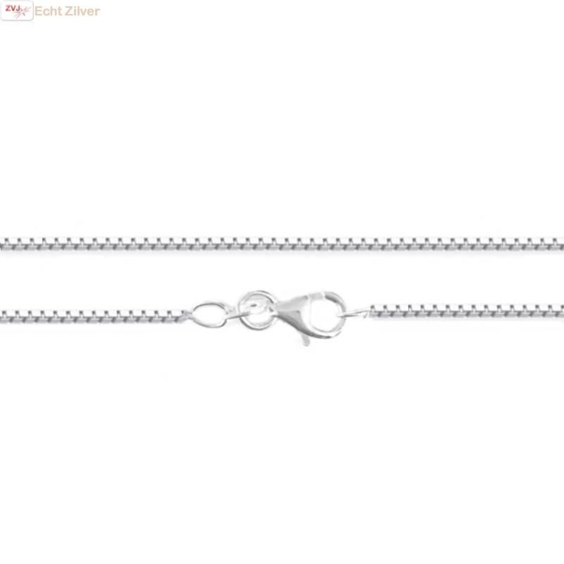 Zilveren box Venetiaan ketting 38 cm 1.2 mm-1