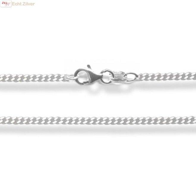 Zilveren gourmet ketting 38 cm lang 1.7 mm breed