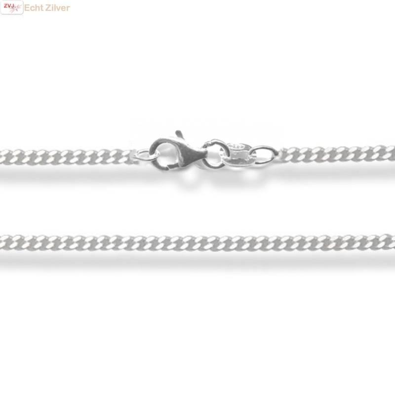Zilveren gourmet ketting 38 cm lang 1.7 mm breed-1