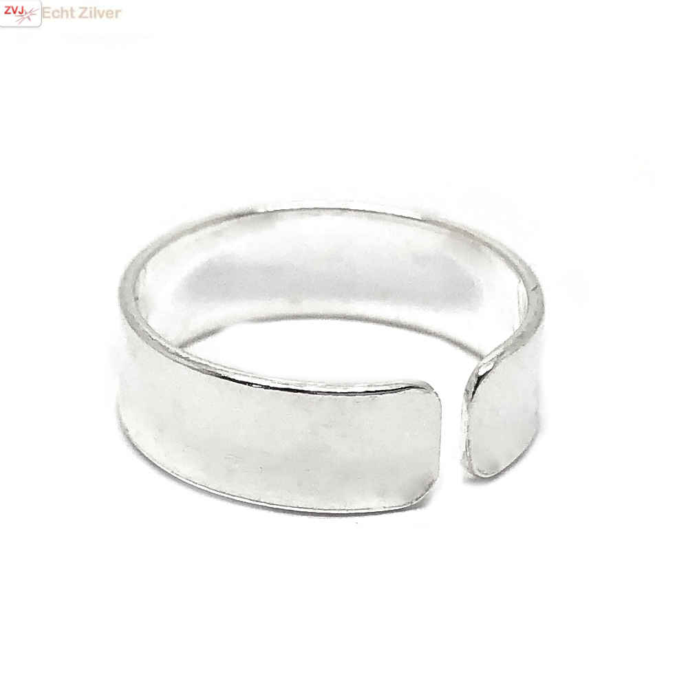 Zilveren teen ring-2