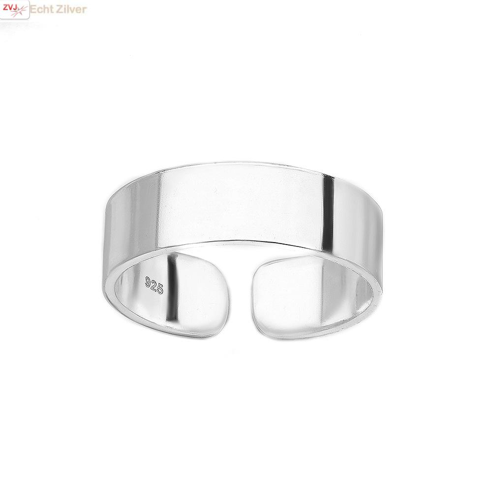 Zilveren teen ring-1