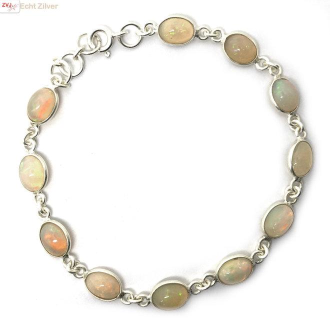 Zilveren opaal armband