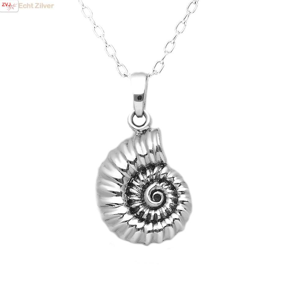 Zilveren schelp kettinghanger-1