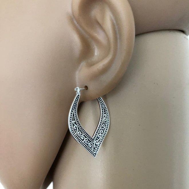 Zilveren vintage oorringen