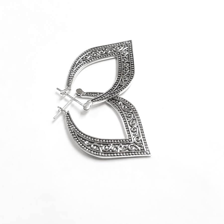 Zilveren vintage oorringen-3