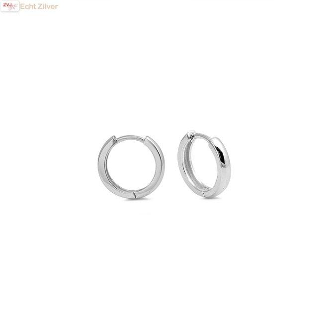 Zilveren huggie hoops 12 mm