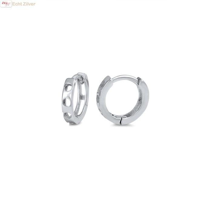 Zilveren huggie hoops 11 mm