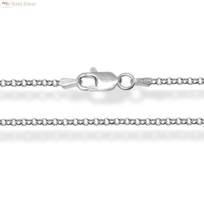 Zilveren rolo jasserson ketting 45 cm lang 1.5mm breed