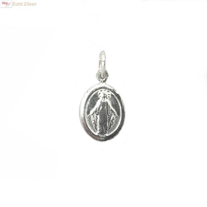 Zilveren mother Mary coin hanger