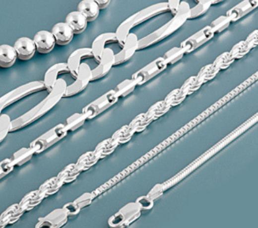 Echt zilveren lengte kettingen