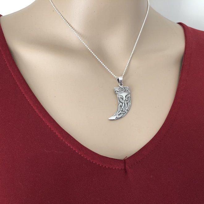 925 zilveren Keltische hoorn