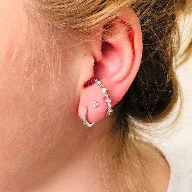 925 Zilveren dulcet oorstekers