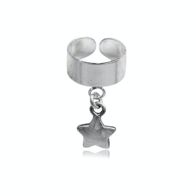 Zilveren ear cuff ster