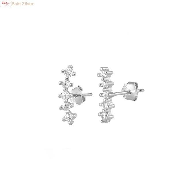 Zilveren 5 tiny stars oorstekers