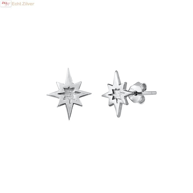 Zilveren tiny  star studs