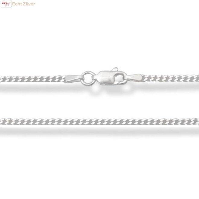 Zilveren gourmet ketting 55 cm 1.7 mm breed