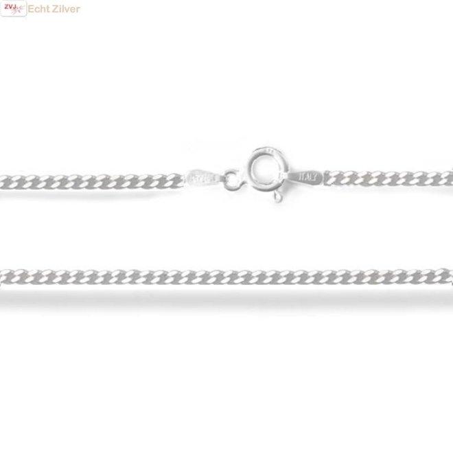 Zilveren gourmet ketting 60 cm lang 1.7 mm breed
