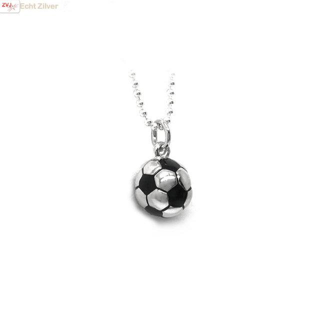 Zilveren voetbal kettinghanger